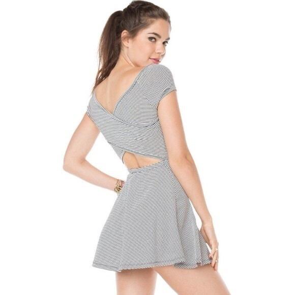 Brandy Melville Striped Cutout Dress